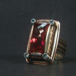 "Natural Topaz Silver Ring ""Tom.."